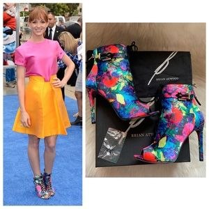 New! BRIAN ATWOOD Linford Floral Booties